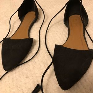 Black Pointed Sandals